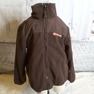 3/$30 Timberland brown fleece jacket Unisex size 5